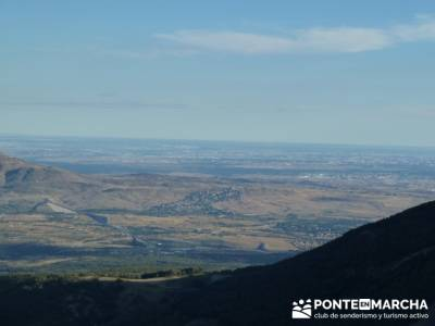 Pico Perdiguera,senderismo en la comunidad de madrid; gr 86; charca verde la pedriza